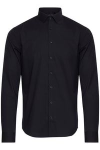 Casual Friday Slim Fit Long Sleeve Shirt - Black