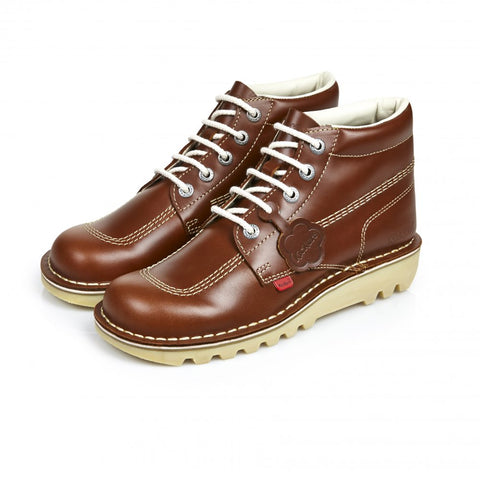 Kickers Kick Hi Leather - Dark Tan