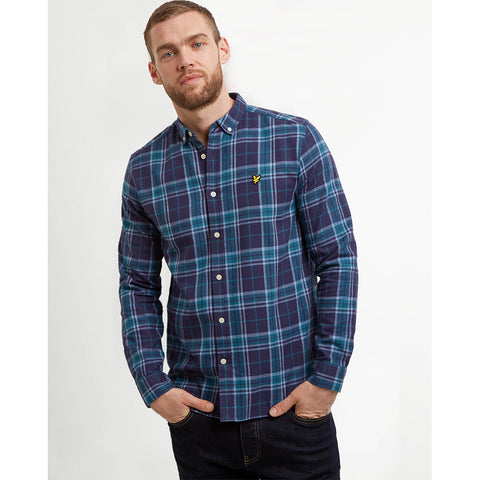 Lyle & Scott Check Flannel Shirt - Navy