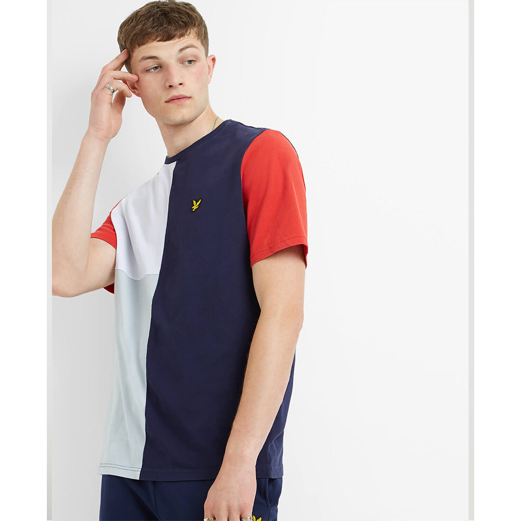 Lyle & Scott Colour Block T-Shirt - Navy