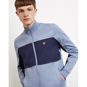 Lyle & Scott Colourblock Track Jacket - Stone Blue