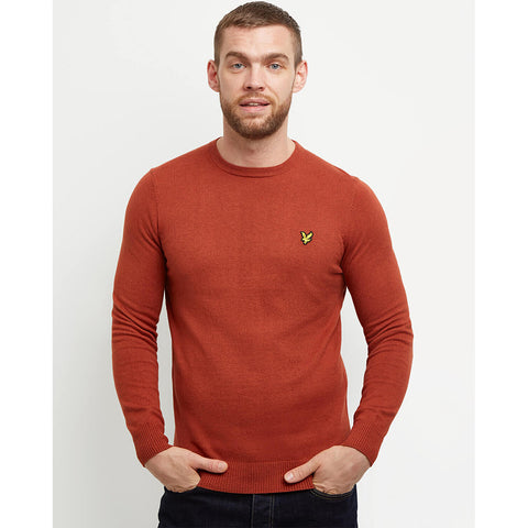Lyle & Scott Cotton Merino Crew Jumper - Tobacco Marl