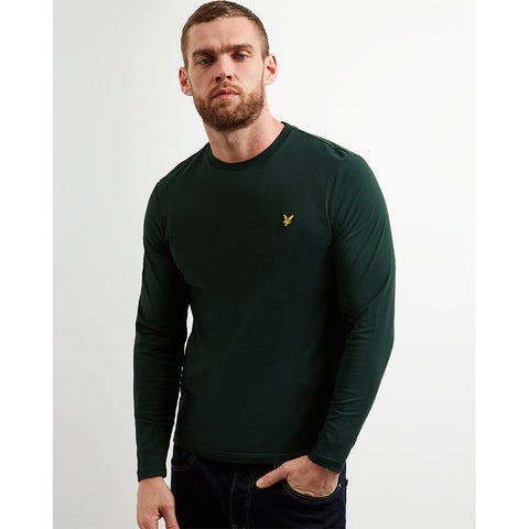 Lyle & Scott Long Sleeve Crew Neck T-Shirt - Jade Green