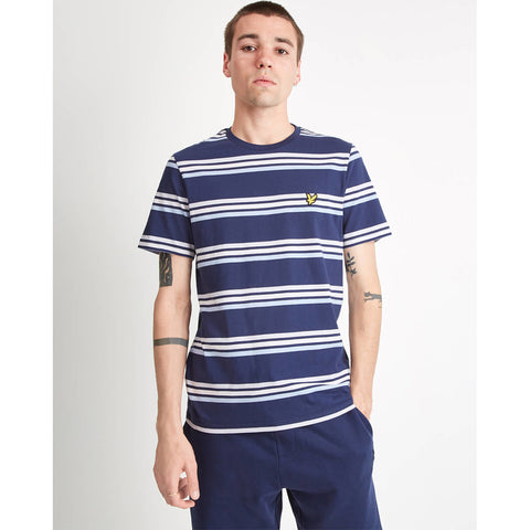 Lyle & Scott Multi Stripe T-Shirt - Navy
