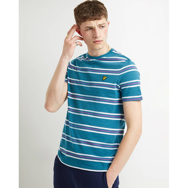 Lyle & Scott Multi Stripe T-Shirt - Petrol Teal