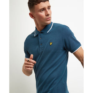 Lyle & Scott Oxford Tipped Polo Shirt - Petrol Teal