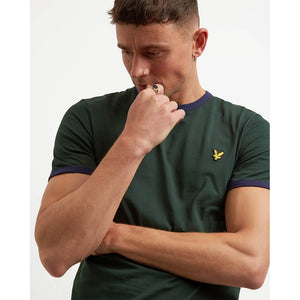 Lyle & Scott Ringer T-Shirt - Jade Green/Navy