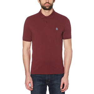 Original Penguin Raised Rib Polo - Tawny Port