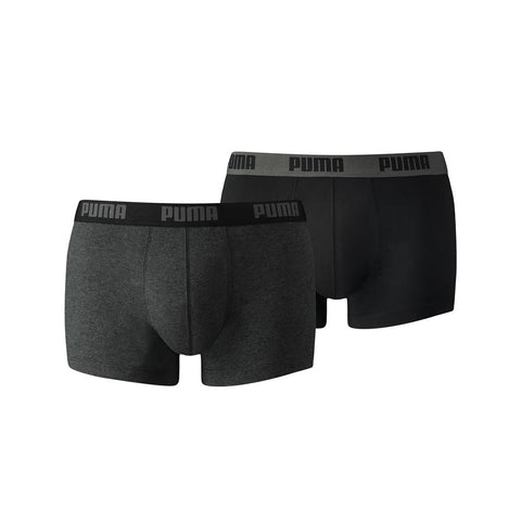 Puma Basic Trunk (2 Pack) - Dark Grey Melange/Black