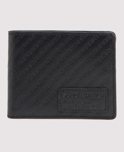 Superdry AOP Badge Lineman Wallet - Black