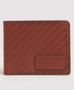 Superdry AOP Badge Lineman Wallet - Light Brown