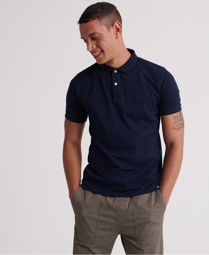 Superdry Classic Lite Micro Pique Polo - Midnight Navy