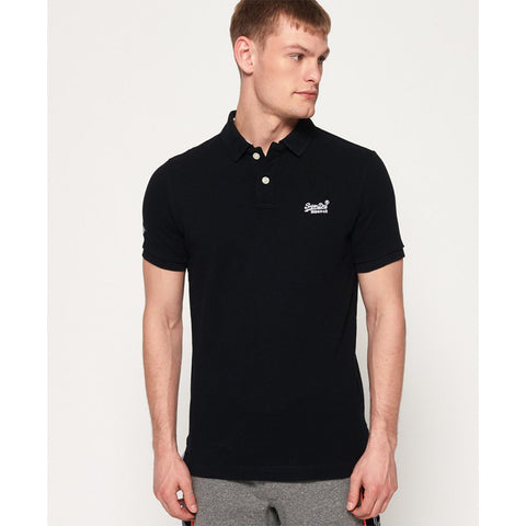 Superdry Classic Pique Polo - Black