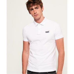 Superdry Classic Pique Polo - Optic White