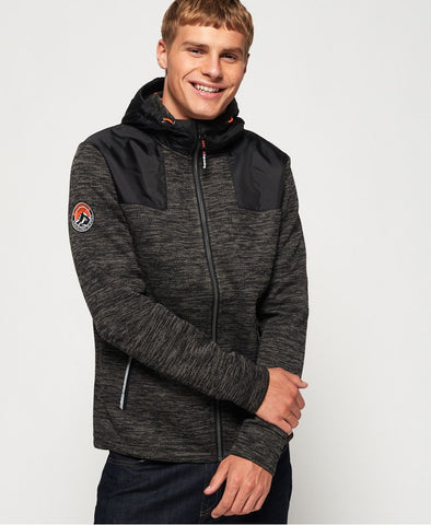 Superdry Mountain Zip Hoodie - Black