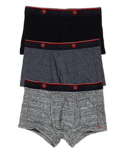 Superdry Orange Label Sport Trunk (Triple Pack) - Black/Flint Grey