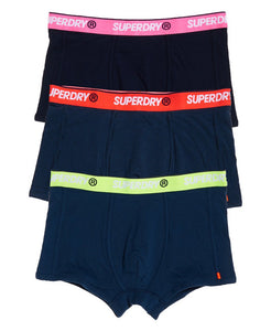 Superdry Orange Label Sport Trunk (Triple Pack) - Downhill Navy/Zinc