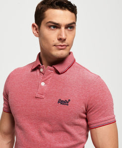 Superdry Poolside Pique Polo - Rogue Red Twist