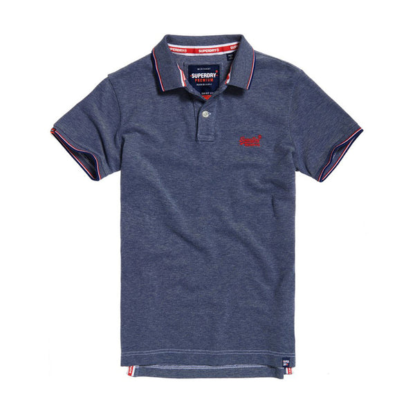 Superdry Poolside Pique Polo - Royal Twist