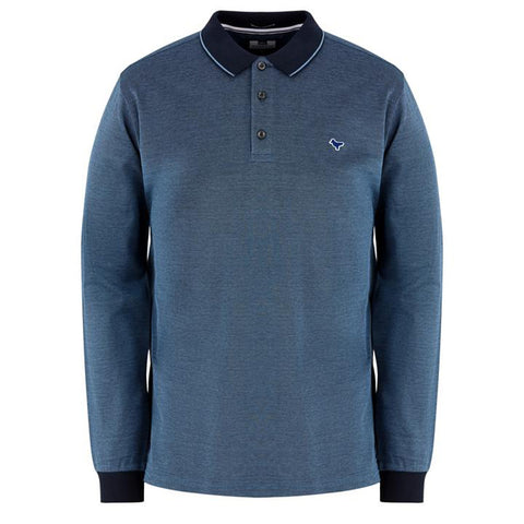 Weekend Offender Herrera Long Sleeve Polo - Lake/Navy