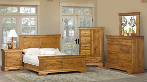 Vokes Louis Rustique Solid Maple Bed