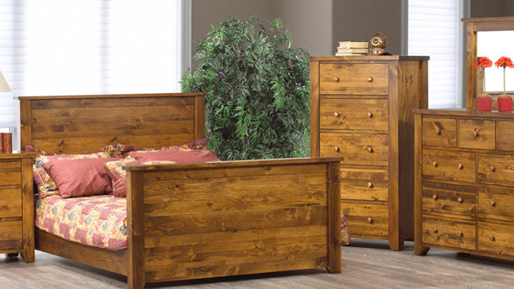 Vokes Rough Sawn Solid Wood Queen Bed