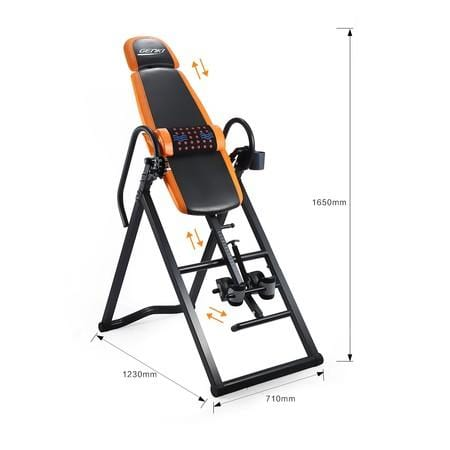 Adjustable Inversion Table Foldable Massage Gravity Back Inverter w/PVC Mat & Heavy-Duty Steel Frame Afterpay Buy Now Australia Fitness at home