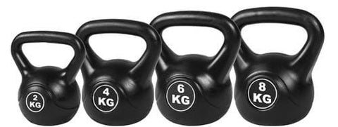 Cutting Edge Design 4pcs Kettle Bell Weight Set 20KG Black Free Shipping Fitness At Home Australia Afterpay Zip