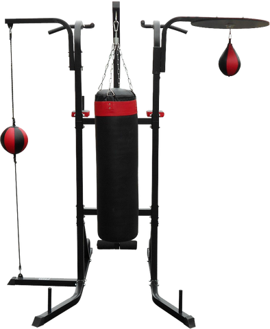 Image of Power Boxing Station Stand Gym Speed Ball Punching Bag 569.95 AUD Fitness At Home Afterpay Zip