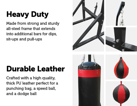 Power Boxing Station Stand Gym Speed Ball Punching Bag 569.95 AUD Fitness At Home Afterpay Zip