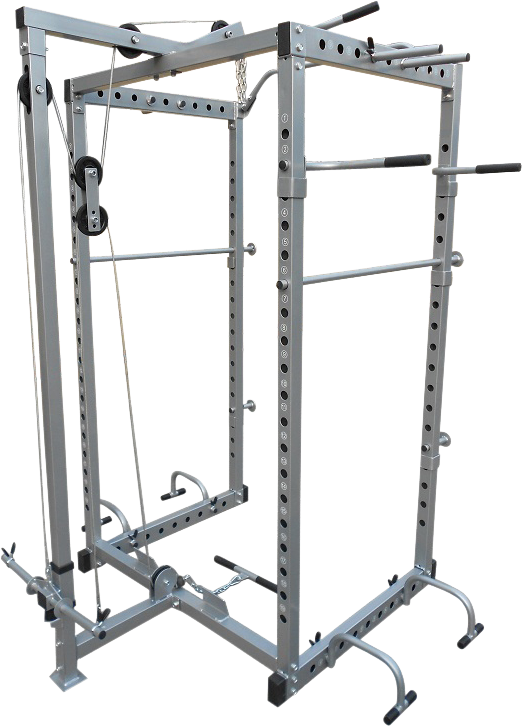 Power Rack Squat Cage Stands with Lat Pulldown For Home Gym