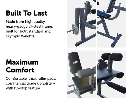 Image of Leg Extension Curl Machine Fitness At Home Afterpay Online Store Buy Melbourne Sydney
