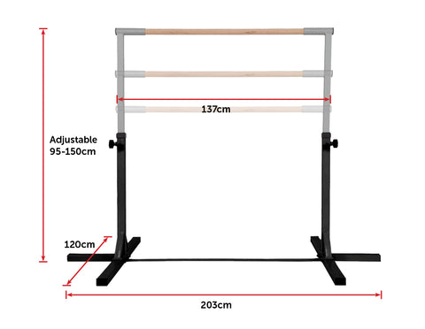 Image of Wear-Resistant Gymnastics Training Bar Kids Adjustable Horizontal Kip Fitness Gym Equipment Fitness At Home Australia Afterpay Zip