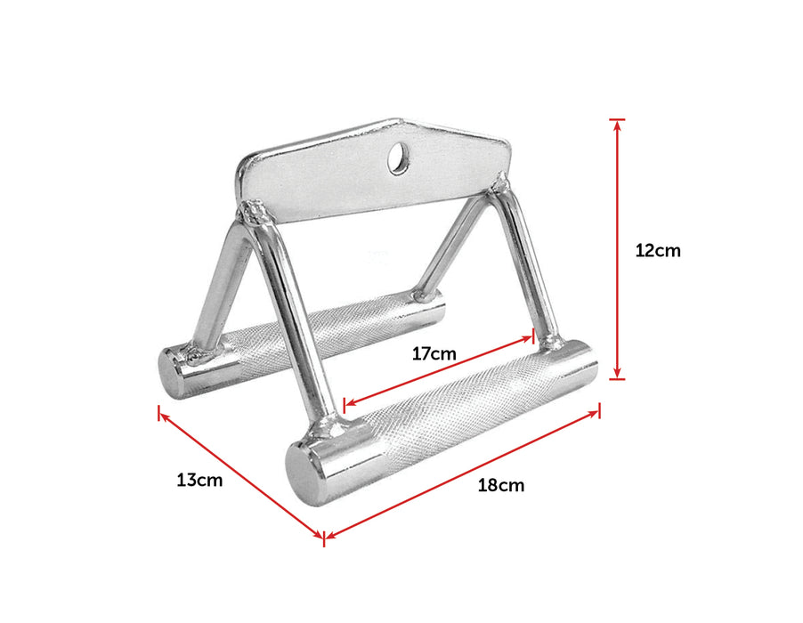 Seated Row Handle Solid Bar
