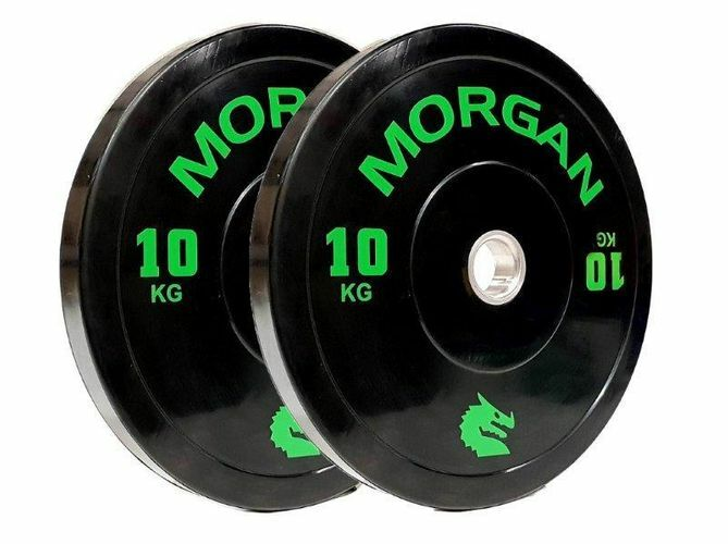 10KG Olympic Bumper Plates (PAIR) By Morgan