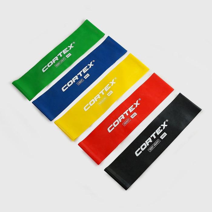 CORTEX 5 PACK FLAT RESISTANCE MICRO WIDE BANDS (4KG TO 14KG)