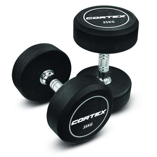 Cortex Rubber Coated Pro 2 Dumbbell 35kg Pair