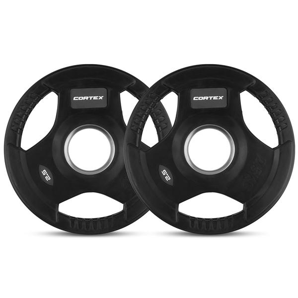 WP31 Tri-Grip Rubber Olympic Plate 50mm 2.5kg (2 Pack)