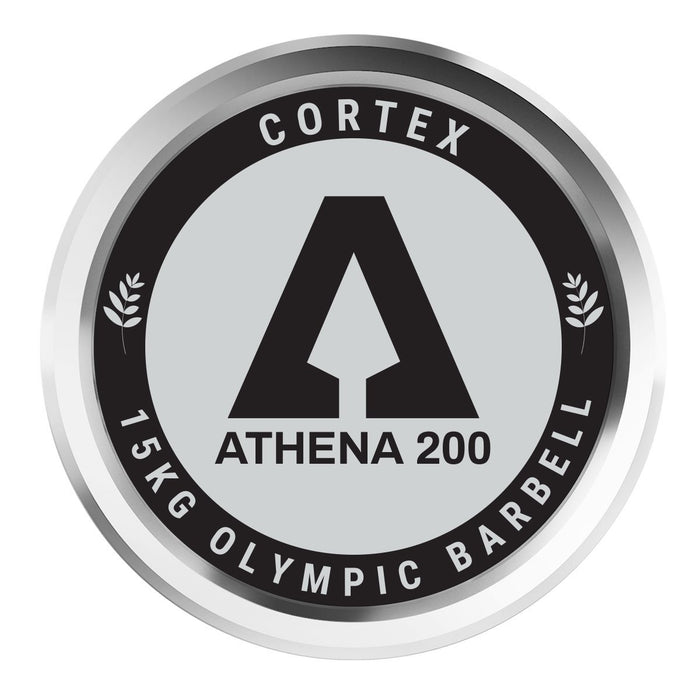 Cortex Athena200 200cm 15KG Womens Olympic Barbell With Lockjaw Collars