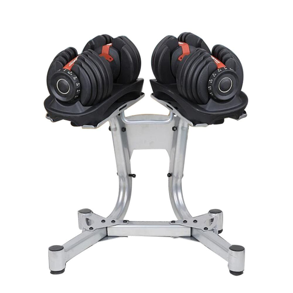 Adjustable Dumbbell 52.5lb Pairs with Stand