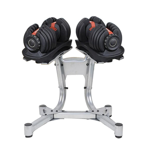 Image of Adjustable Dumbbell 52.5lb Pairs with Stand