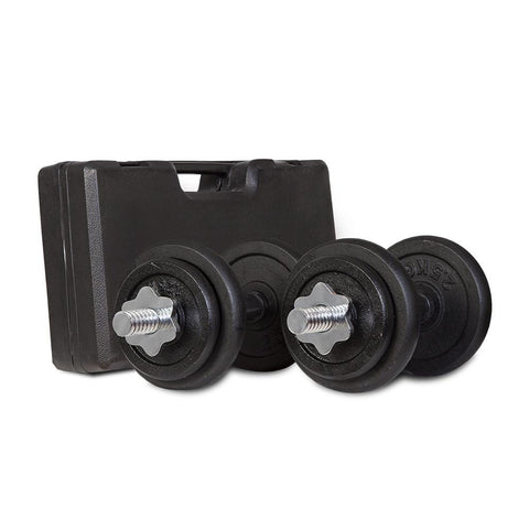 Image of 20kg Dumbbell Set with Case Afterpay Buy Now Australia Fitness at home