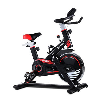 Everfit Spin Exercise Bike Fitness For Home Fitness - Red Afterpay Online Store Buy Melbourne Sydney