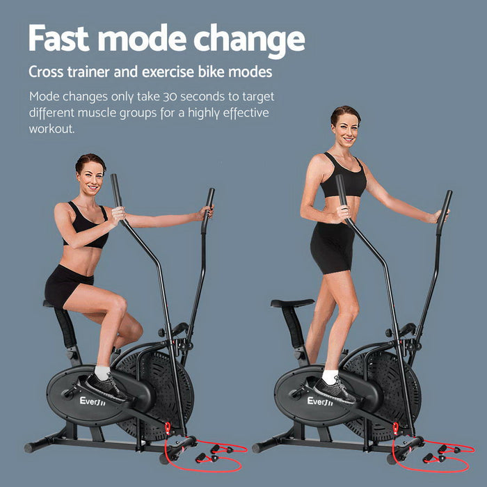 4 in 1 Elliptical Cross Trainer Exercise Bike Bicycle Fitness At Home With LCD Display Fitness At Home Afterpay Zip Online Store Buy Melbourne Sydney
