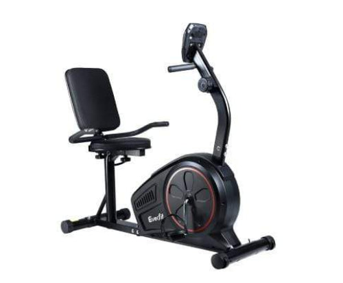 Black Magnetic Recumbent Exercise Bike Cycle For Home Gym Fitness By Everfit Fitness At Home Afterpay Zip Online Store Buy Melbourne Sydney