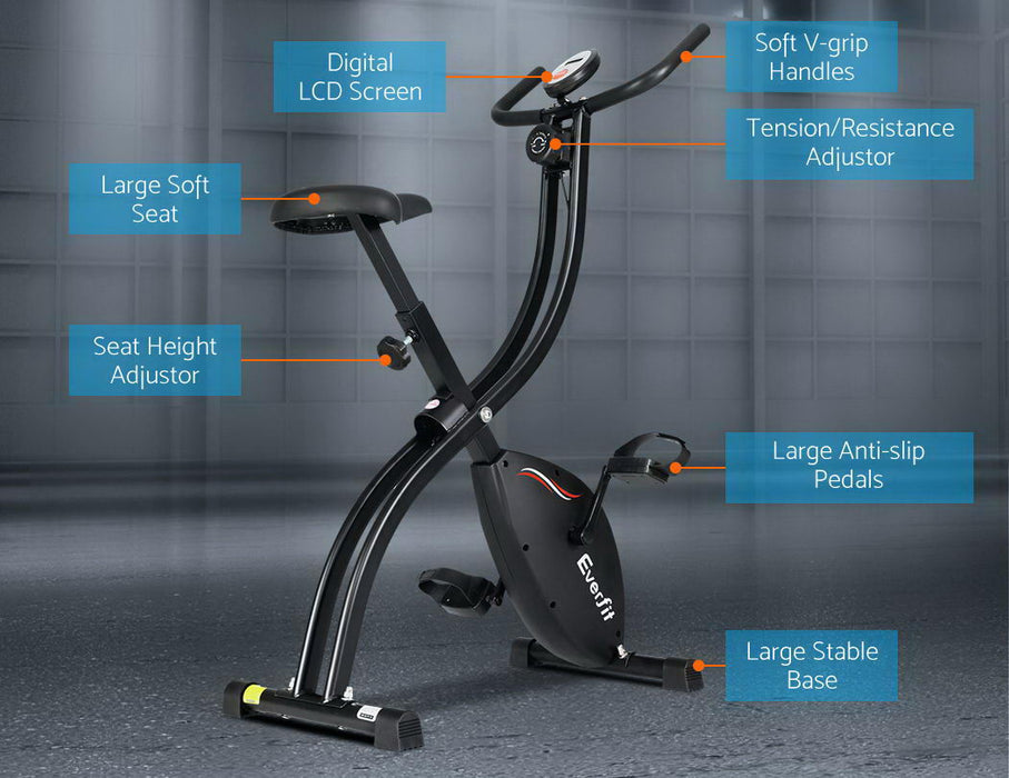 Exercise Bike Steel X-Bike Folding Magnetic Bicycle Cycling Flywheel Fitness At Home Fitness At Home Afterpay Zip Online Store Buy Melbourne Sydney