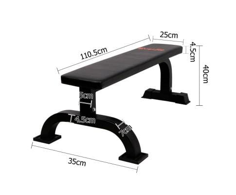 Fitness Flat Weight Bench - Black Afterpay Buy Now Australia Fitness at  home