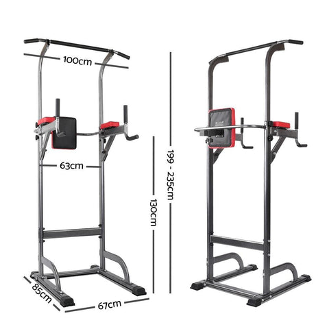 Image of  Multi Station Pull Up Fitness Station For Complete Workout by Everfit Free Shipping Fitness At Home Australia Afterpay Zip