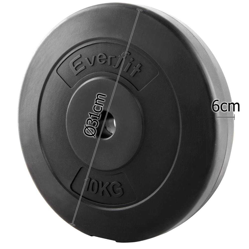 4df63aed69b06 Everfit Home Gym Weight Plate 2 x 5KG Fitness At Home Sports ...