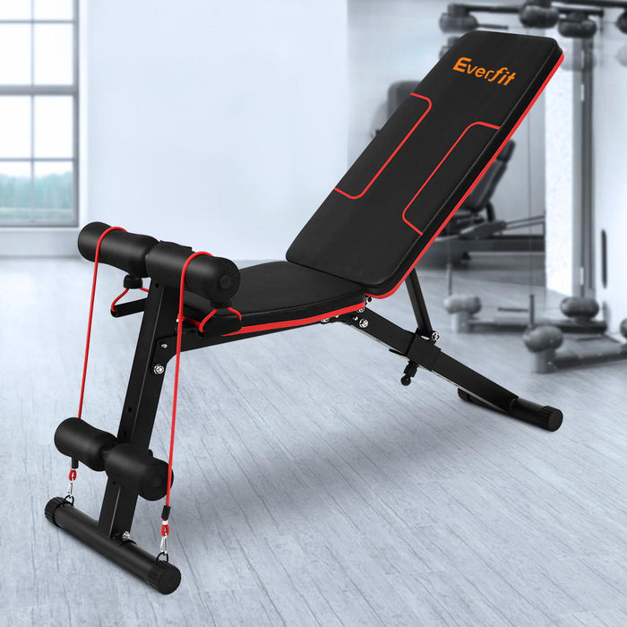 FID Adjustable Weight Bench Fitness Flat Incline Gym Home Steel Frame Fitness At Home Afterpay Zip Online Store Buy Melbourne Sydney
